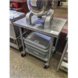 """24 x 30"""" 2 Tier Stainless Steel Table on Casters"""