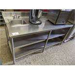 """30 x 72"""" 3 Tier Stainless Steel Table with Hand Sink"""
