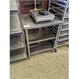"""25 x 29"""" 3 Tier Stainless Steel Work Table"""