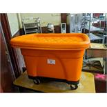 Orange Wash Bin on Casters