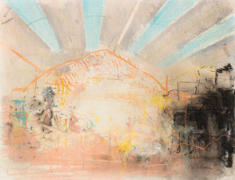 Lot 24 - Kees van Bohemen (The Hague 1928 - 1985) Untitled Signed and dated 80 l.r. Mixed media on paper,