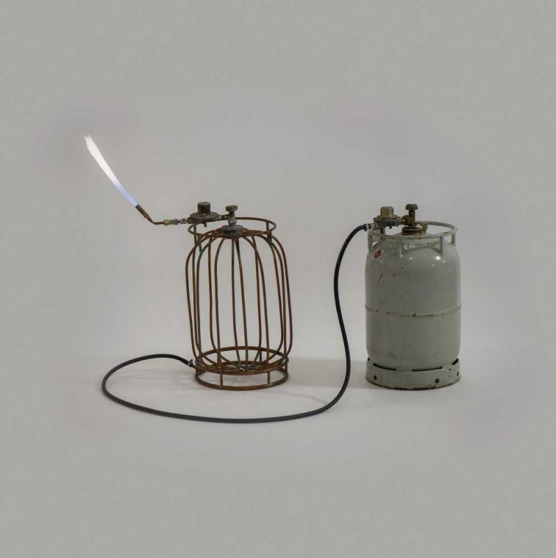 Lot 29 - Merijn Bolink (Amsterdam 1967) Untitled (gas cylinders) (1994) Gas cylinder with fittings and gas