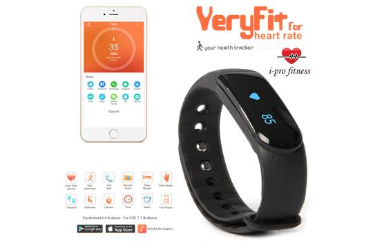 i-Pro ID101 Fitness Tracker _ Seamless Pairing With VeryFit 2 0 App