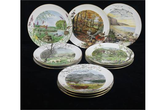 Choose ONE OR MORE Plates ENGLISH COUNTRYSIDE SCENES Royal Worcester Year Plate