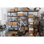 Steel shelving w/fixture components