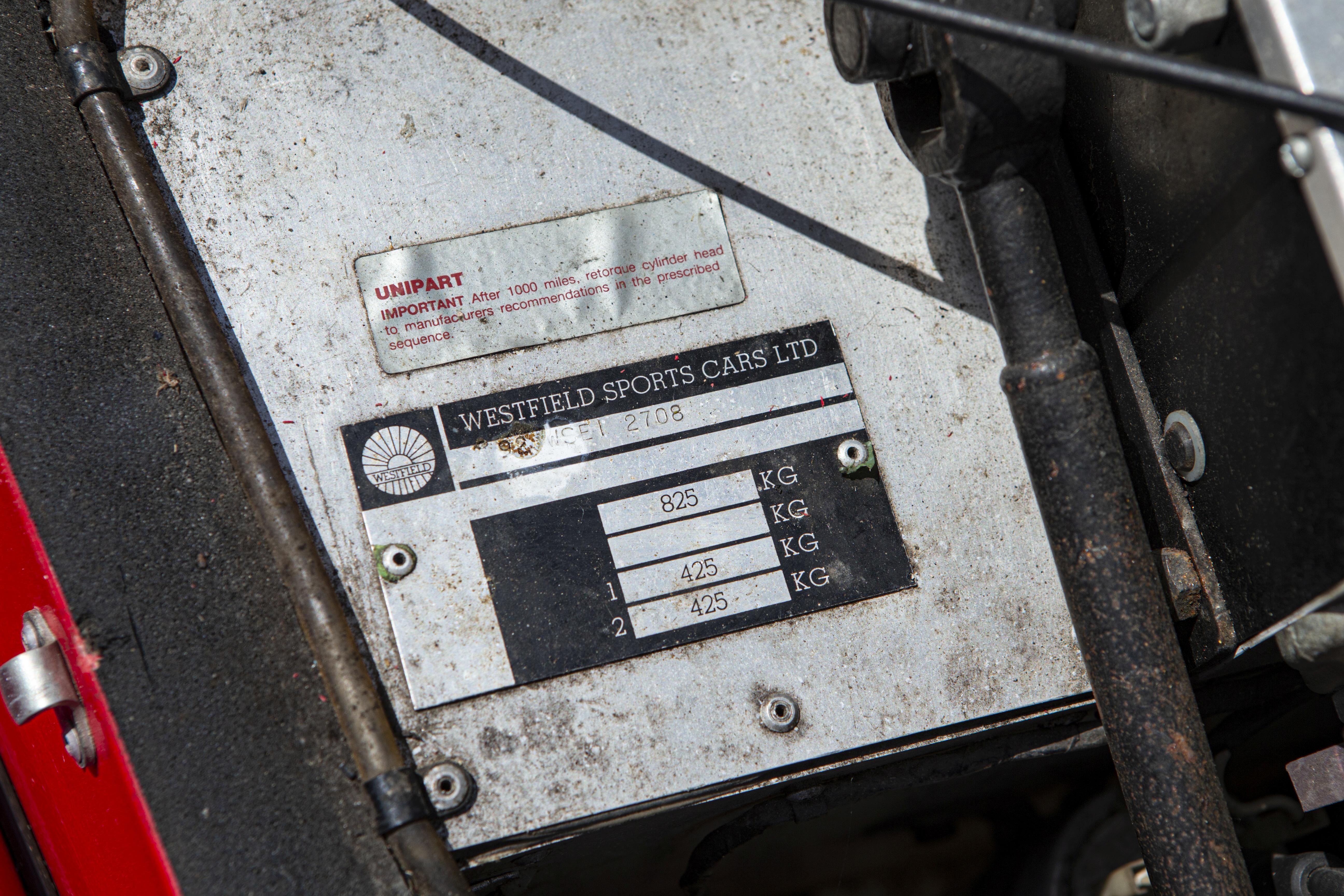 1992 Westfield Chassis no. 92WS1208 - Bild 12 aus 18