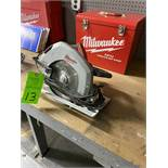 "10-1/4"" Milwaukee Circular Saw and metal case"