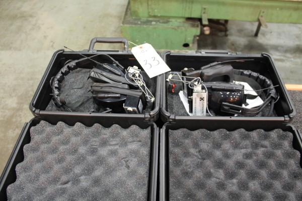 Lot 33 - Lot of (2) Earmark Series 4C Headsets | Location: PM3 2nd Floor Machine Shop
