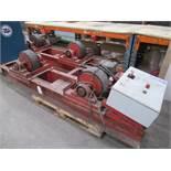 Pair of heavy duty stock motor driven stock/welding roller/rotators