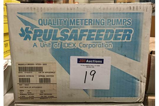 Pulsafeeder Model LB02EB-VTC9-XXX Chemical metering pump, 6