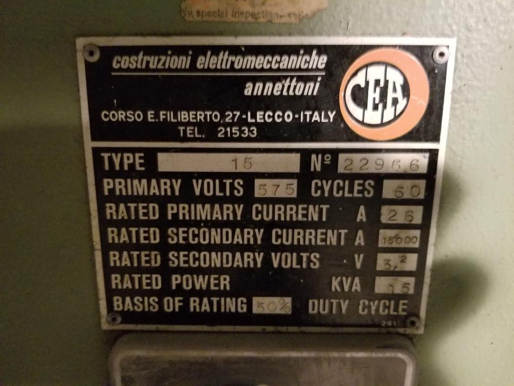 SPITFIRE 575 volt welding machine / Soudeuse SPITFIRE 575 volts - Image 2 of 2