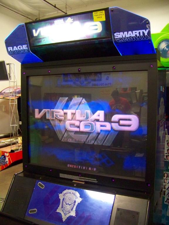 """Lot 209 - VIRTUA COP 3 DX 50"""" SHOOTER ARCADE GAME SEGA"""