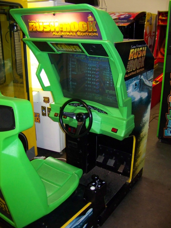 Lot 225 - RUSH THE ROCK RACING ARCADE GAME ATARI