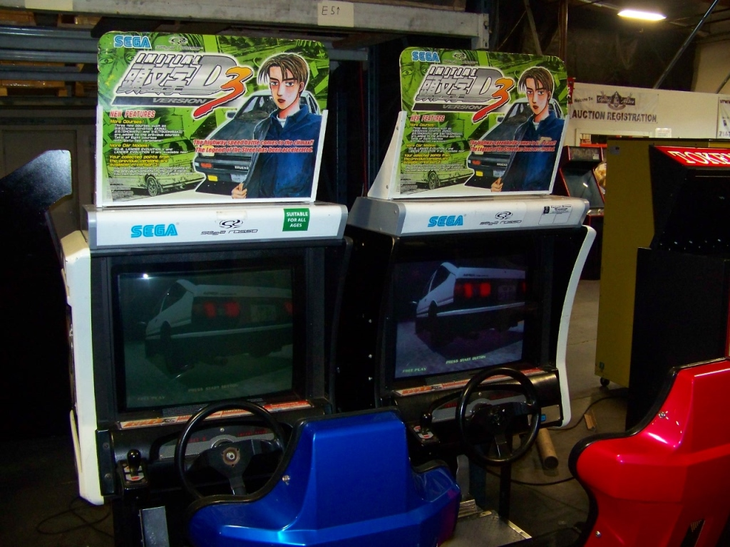 Lot 241 - INITIAL D3 DUAL RACING ARCADE GAME SEGA NAOMI