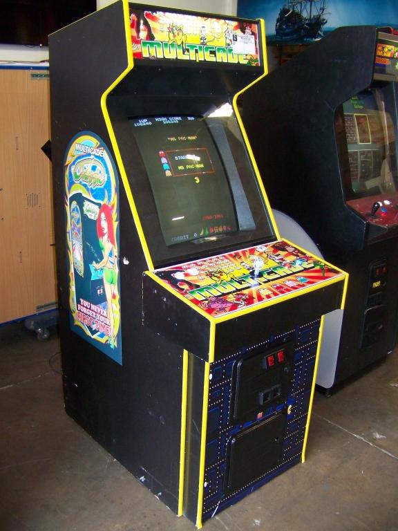Lot 210 - 60 IN 1 MULTICADE UPRIGHT ARCADE GAME CUSTOM CAB