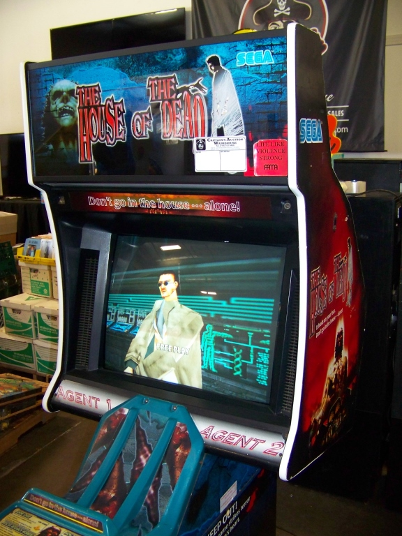 Lot 255 - THE HOUSE OF THE DEAD ZOMBIE SHOOTER ARCADE GAME E