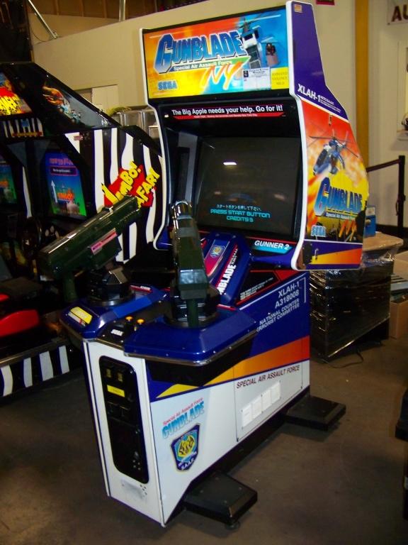 "Lot 222 - GUNBLADE NY STD 27"" SHOOTER ARCADE GAME SEGA"