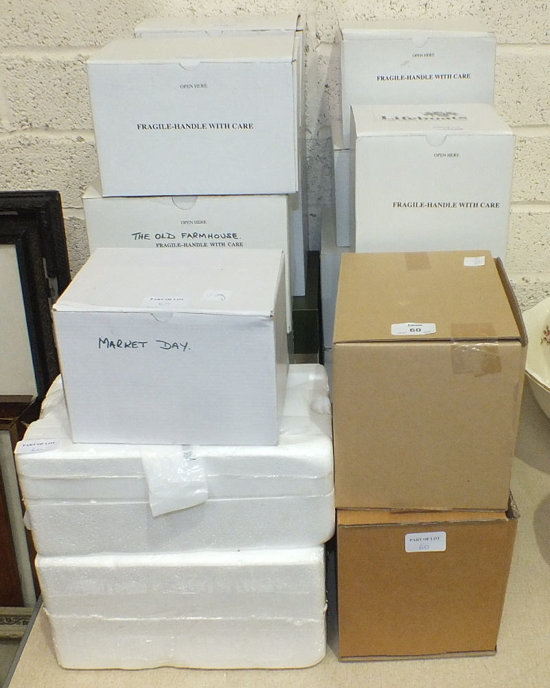 A collection of sixteen boxed 'Danbury Mint' models by Jane Hart, including 'Days of the Week', ' - Image 2 of 2