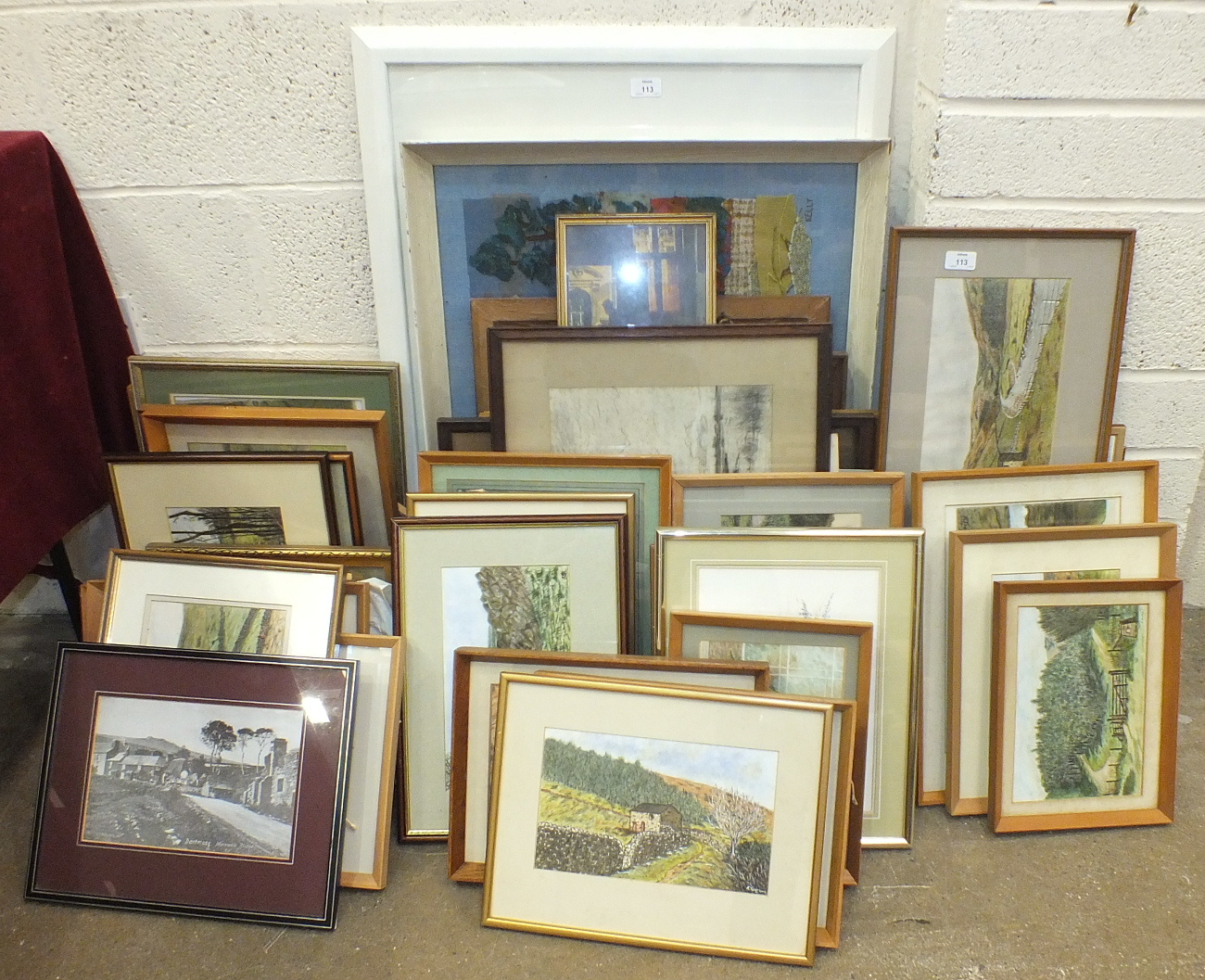A collection of amateur watercolours and drawings by K Garton, mainly Dartmoor scenes.