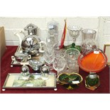 A collection of various glassware, a Heatmaster tea service, (a/f) and miscellaneous items.