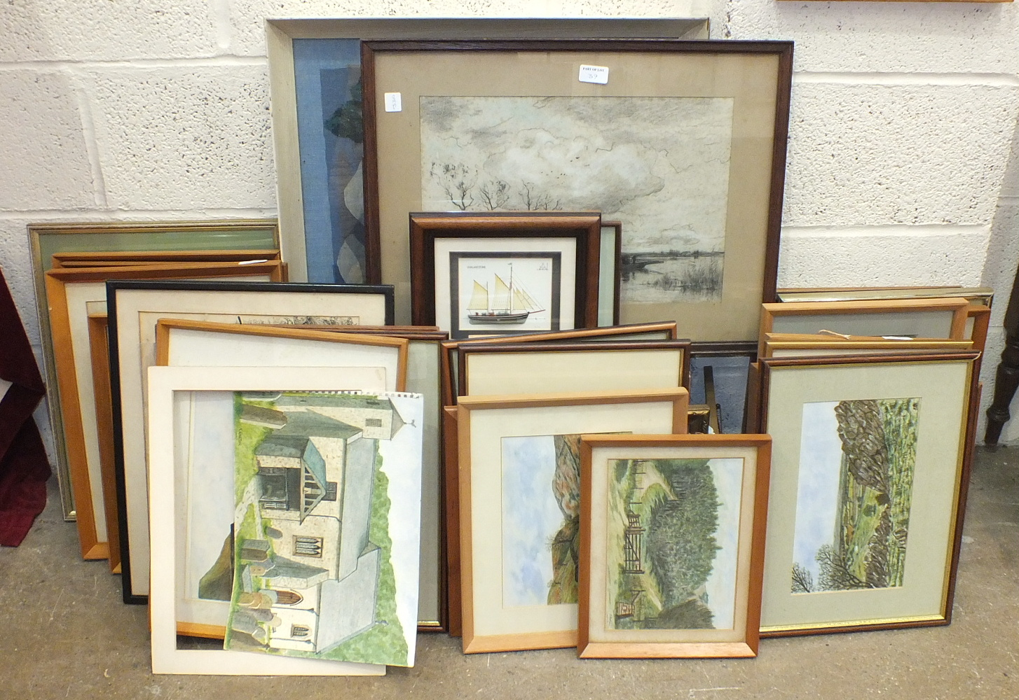 A collection of amateur watercolours and drawings by K Garton, mainly Dartmoor scenes. - Image 2 of 4