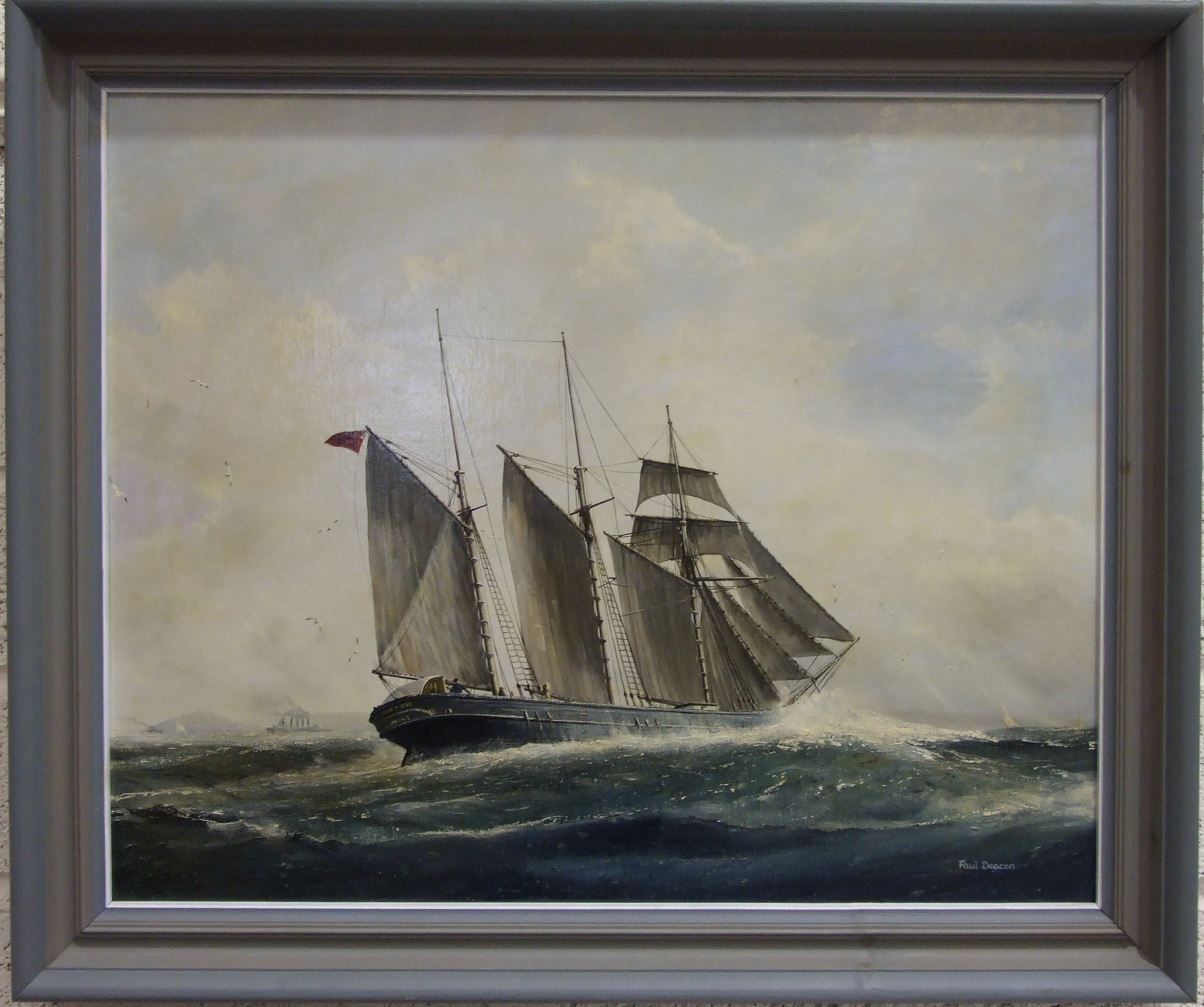 Paul Deacon, 'Kathleen & May, Famous Plymouth Schooner heading in under Rame Head towards the