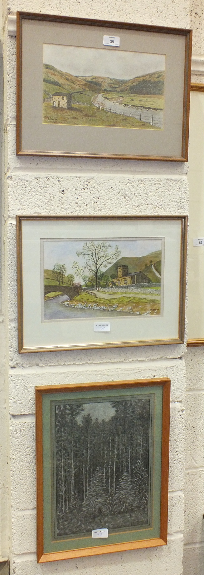 A collection of amateur watercolours and drawings by K Garton, mainly Dartmoor scenes. - Image 4 of 4