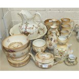 A collection of various Crown Devon 'Wye' and 'Etria' decorated vases, bowls, etc, (some a/f).