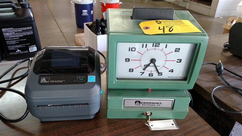 Lot 48 - (3) Time Clocks (Assorted) - (1 x Bid)
