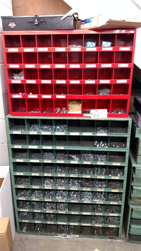Lot 53 - (2) Hardware Stock Bins - (1 x Bid)