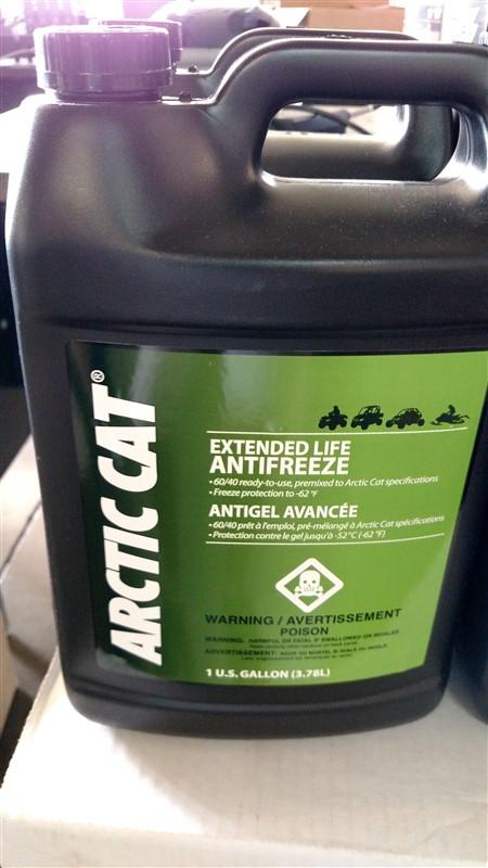 Lot 41 - (10) NEW Artic Cat Antifreeze (Gals.): 7.25% Sales Tax charged - (10 x Bid)