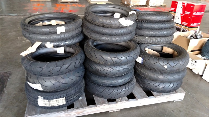 Lot 16 - (30+) NEW Motorcycle Tires (Assorted Sizes) - HDBAL: 7.25% Sales Tax charged - (1 x Bid)