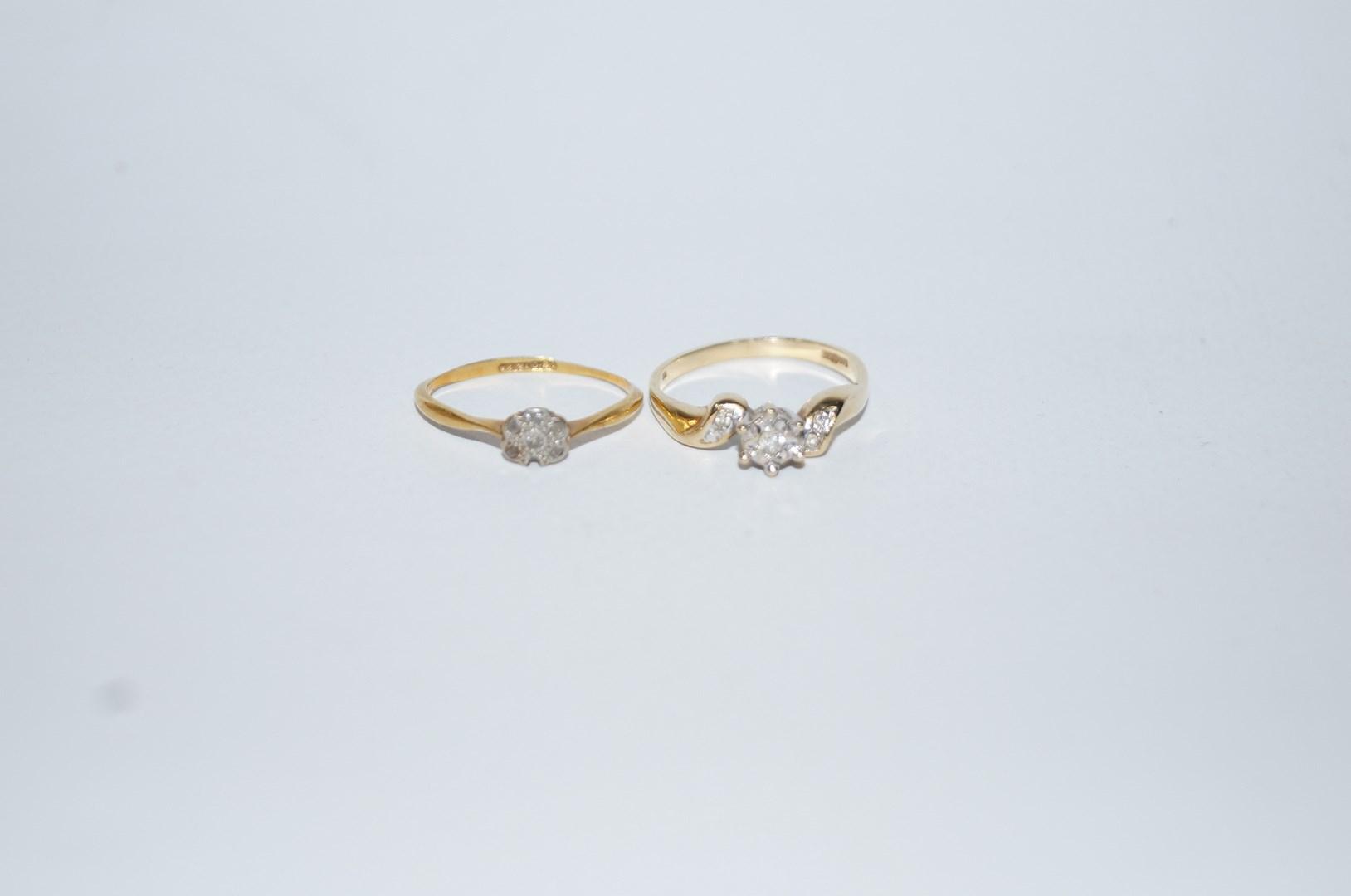 Lot 21 - A 9 carat gold diamond single stone ring, the single cut illusion set,