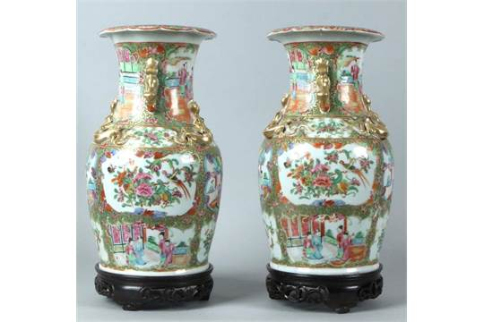 Two Capital Antique Chinese Porcelain Vases 18th 19th Century With