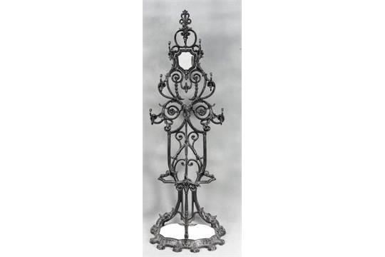 Large Antique Cast Iron Coat Rack With Umbrella Stand And Mirror Magnificent Coat Rack And Umbrella Stand Antique White