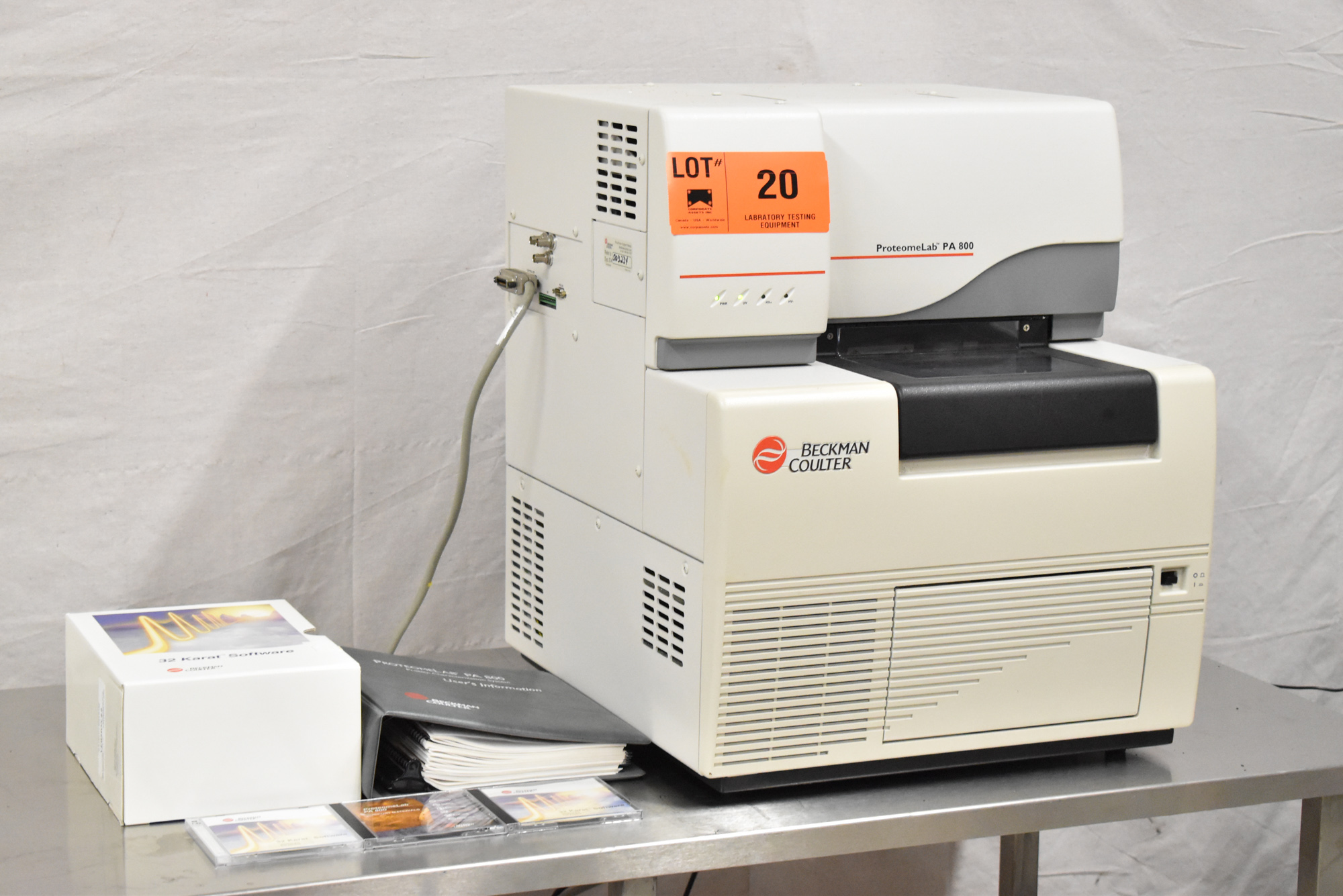 BECKMAN COULTER PROTEOMELAB PA800 PROTEIN CHARACTERIZATION SYSTEM WITH 32 KARAT VER 8.0 CD'S, - Image 3 of 10