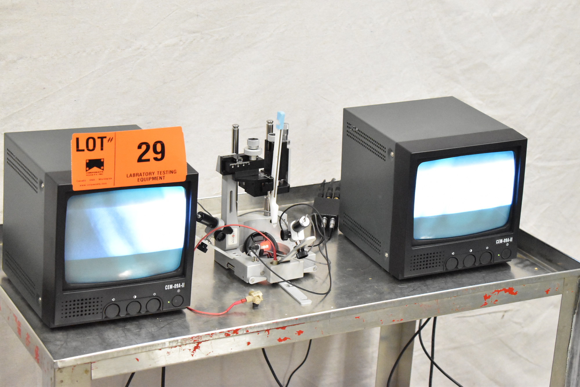 """LOT/ PRECISION CAMERA INSPECTION SYSTEM WITH (2) 9"""" CCTV MONITORS, (2) JAPAN MTF MICRO CAMERAS, - Image 4 of 15"""