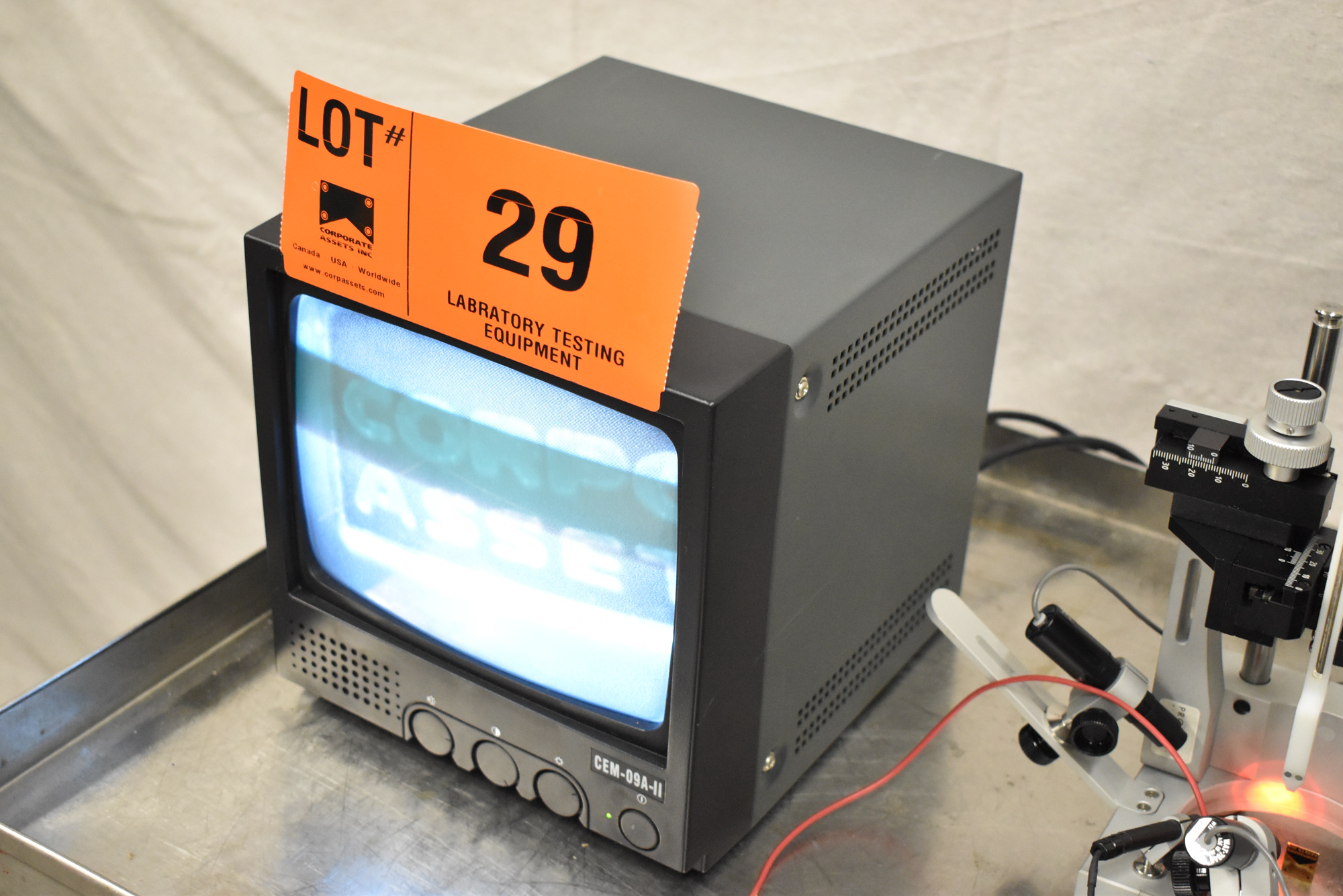 """LOT/ PRECISION CAMERA INSPECTION SYSTEM WITH (2) 9"""" CCTV MONITORS, (2) JAPAN MTF MICRO CAMERAS, - Image 12 of 15"""