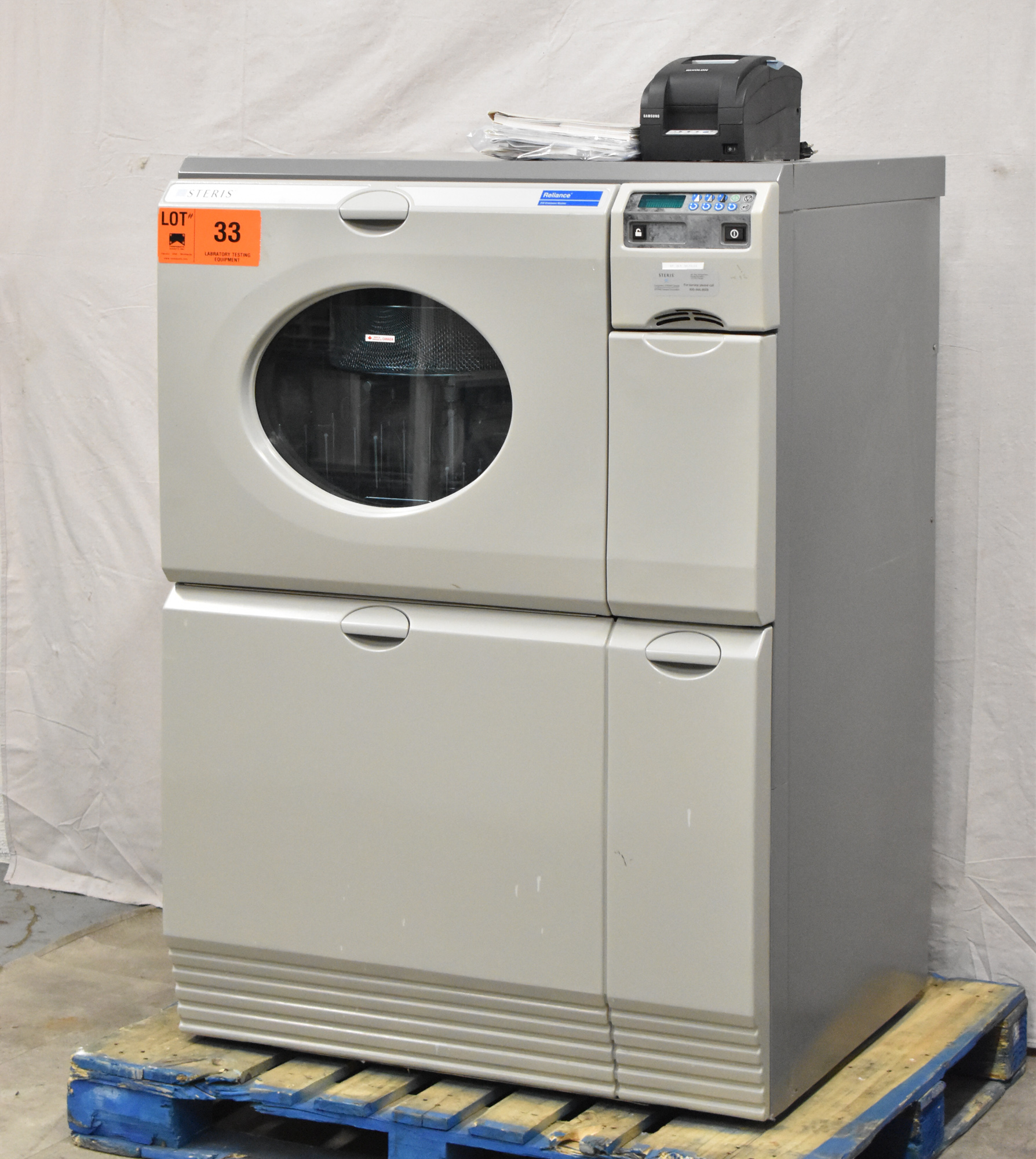 STERIS RELIANCE 250 ULTRA WASH PLUS LABORATORY GLASSWARE WASHER WITH DIGITAL TOUCH SCREEN CONTROL,
