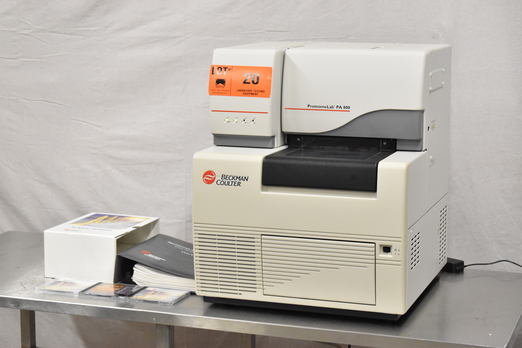 BECKMAN COULTER PROTEOMELAB PA800 PROTEIN CHARACTERIZATION SYSTEM WITH 32 KARAT VER 8.0 CD'S, - Image 2 of 10