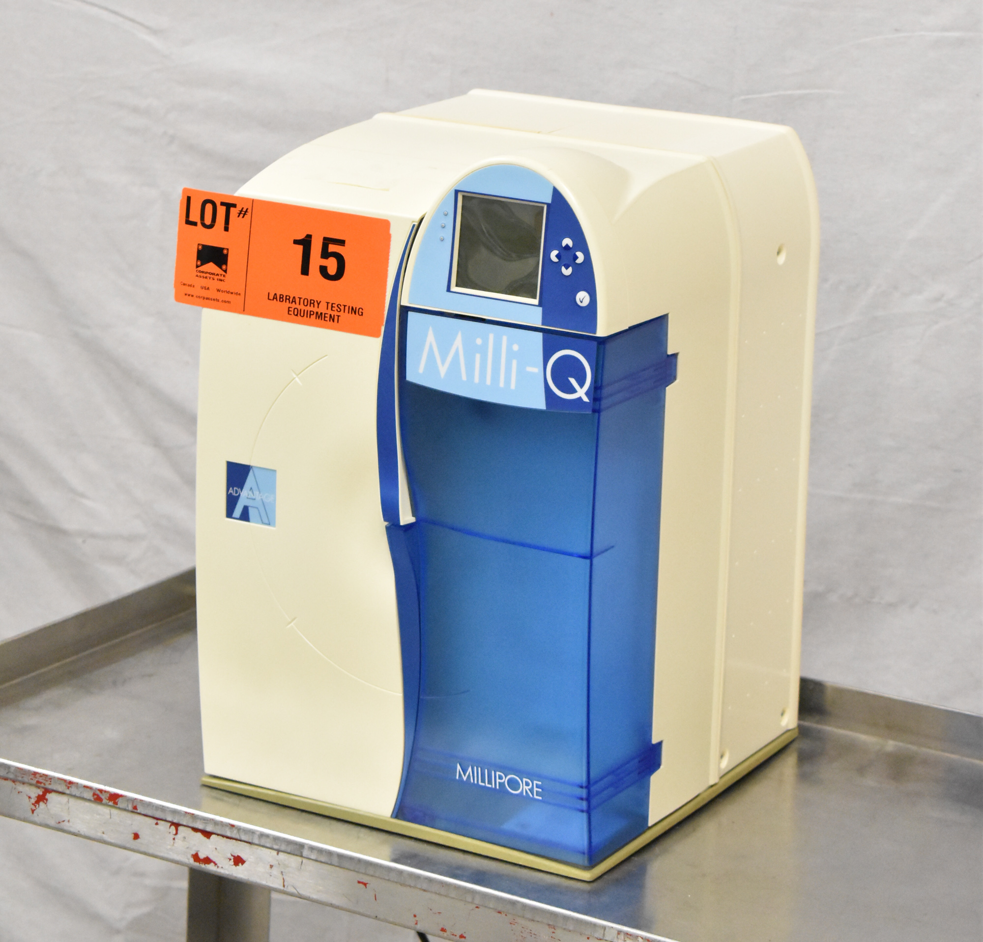 MILLIPORE MILLI-Q ADVANTAGE A10 BENCH TYPE DIGITAL WATER PURIFICATION SYSTEM, S/N F7MN699376E [$25 - Image 2 of 5