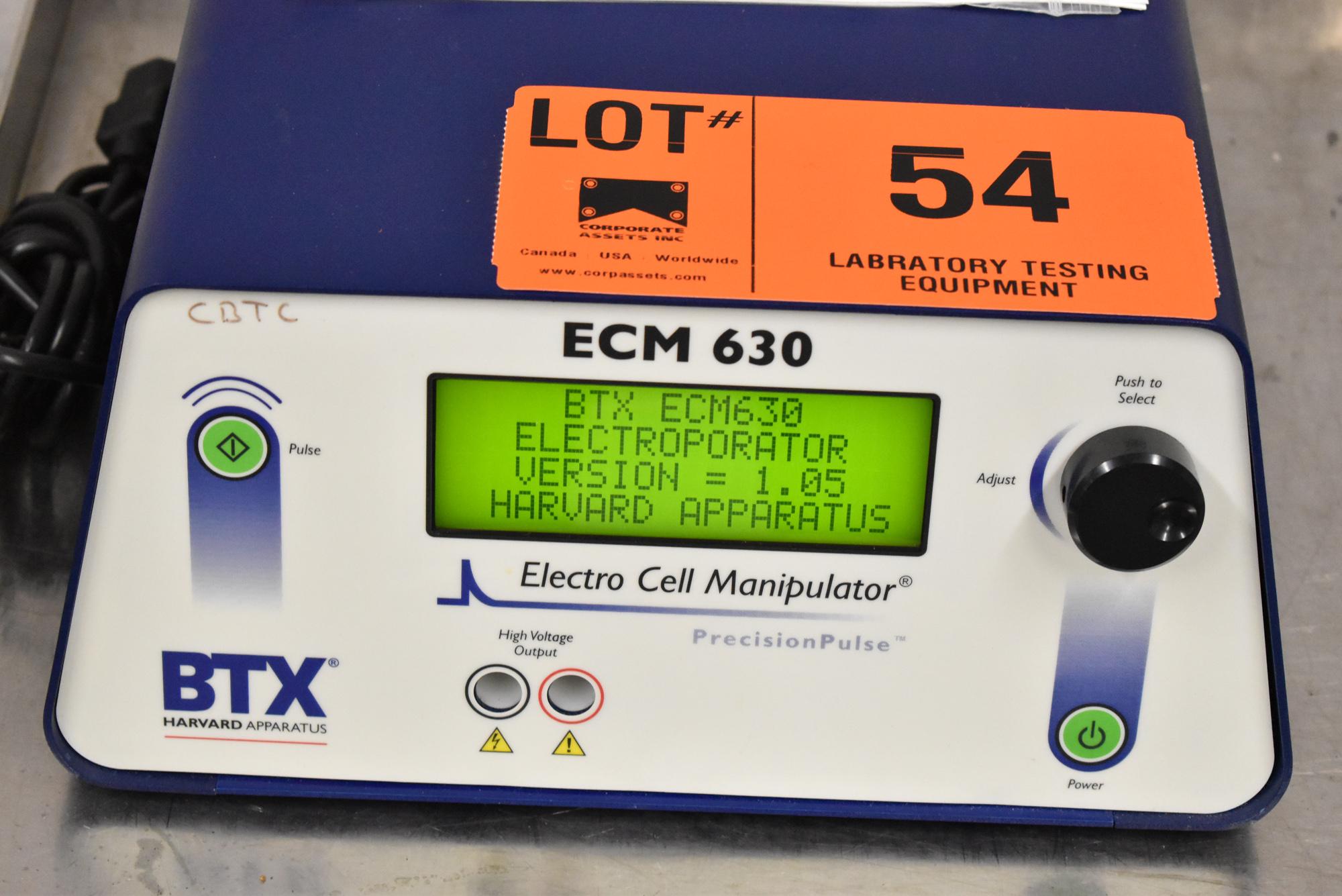 BTX ECM630 BENCH TYPE DIGITAL ELECTRO CELL MANIPULATOR, S/N N/A [$25 USD OPTIONAL LOADING FEE -