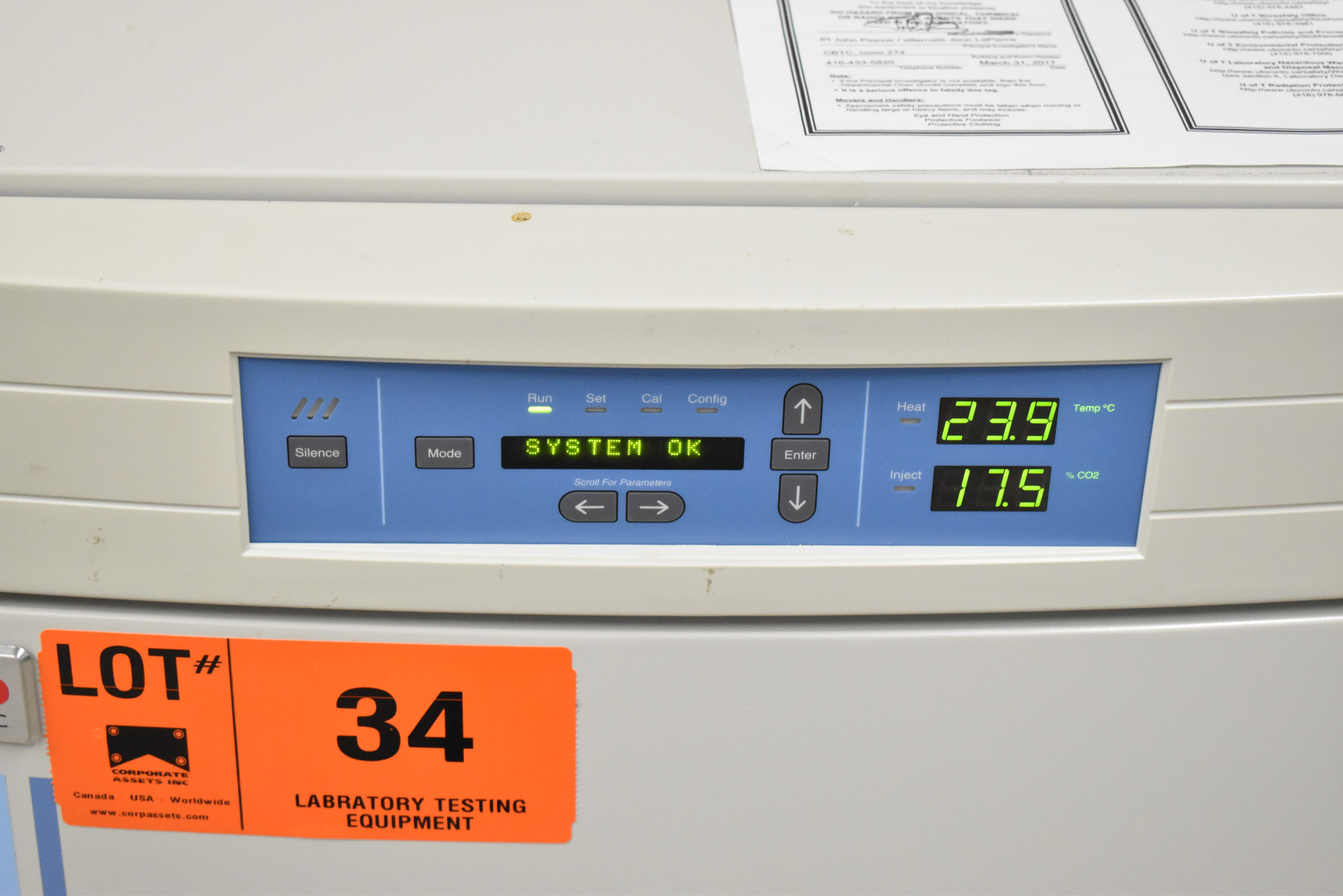 THERMO SCIENTIFIC 3130 FORMA SERIES II WATER JACKET CO2 INCUBATOR WITH DIGITAL MICROPROCESSOR - Image 4 of 8