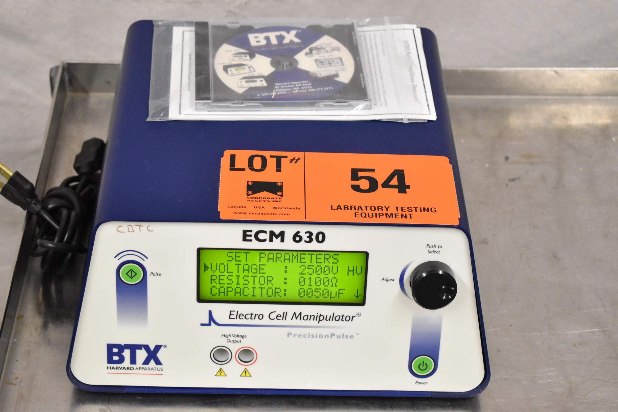 BTX ECM630 BENCH TYPE DIGITAL ELECTRO CELL MANIPULATOR, S/N N/A [$25 USD OPTIONAL LOADING FEE - - Image 2 of 4