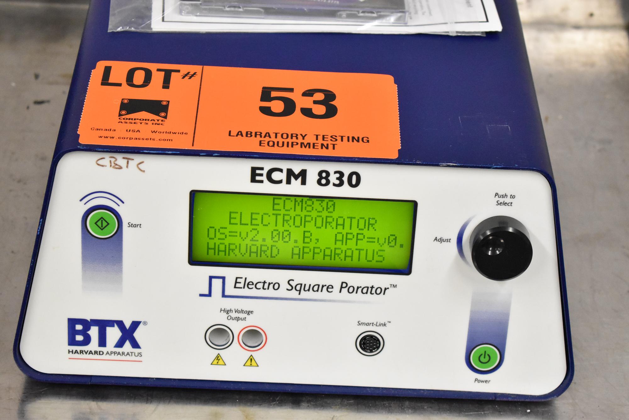 BTX ECM830 BENCH TYPE DIGITAL ELECTRO SQUARE PRORATOR, S/N N/A [$25 USD OPTIONAL LOADING FEE -