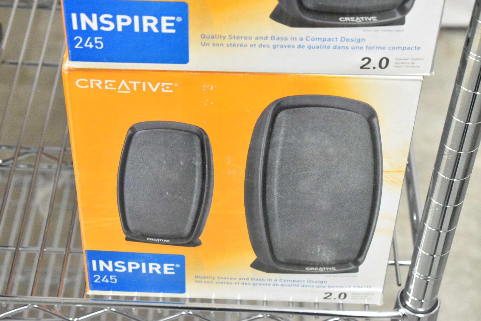 LOT/ (12) INSPIRE 245 2.0 DESKTOP COMPUTER SPEAKER SETS [$10 USD OPTIONAL LOADING FEE - CONTACT - Image 2 of 2