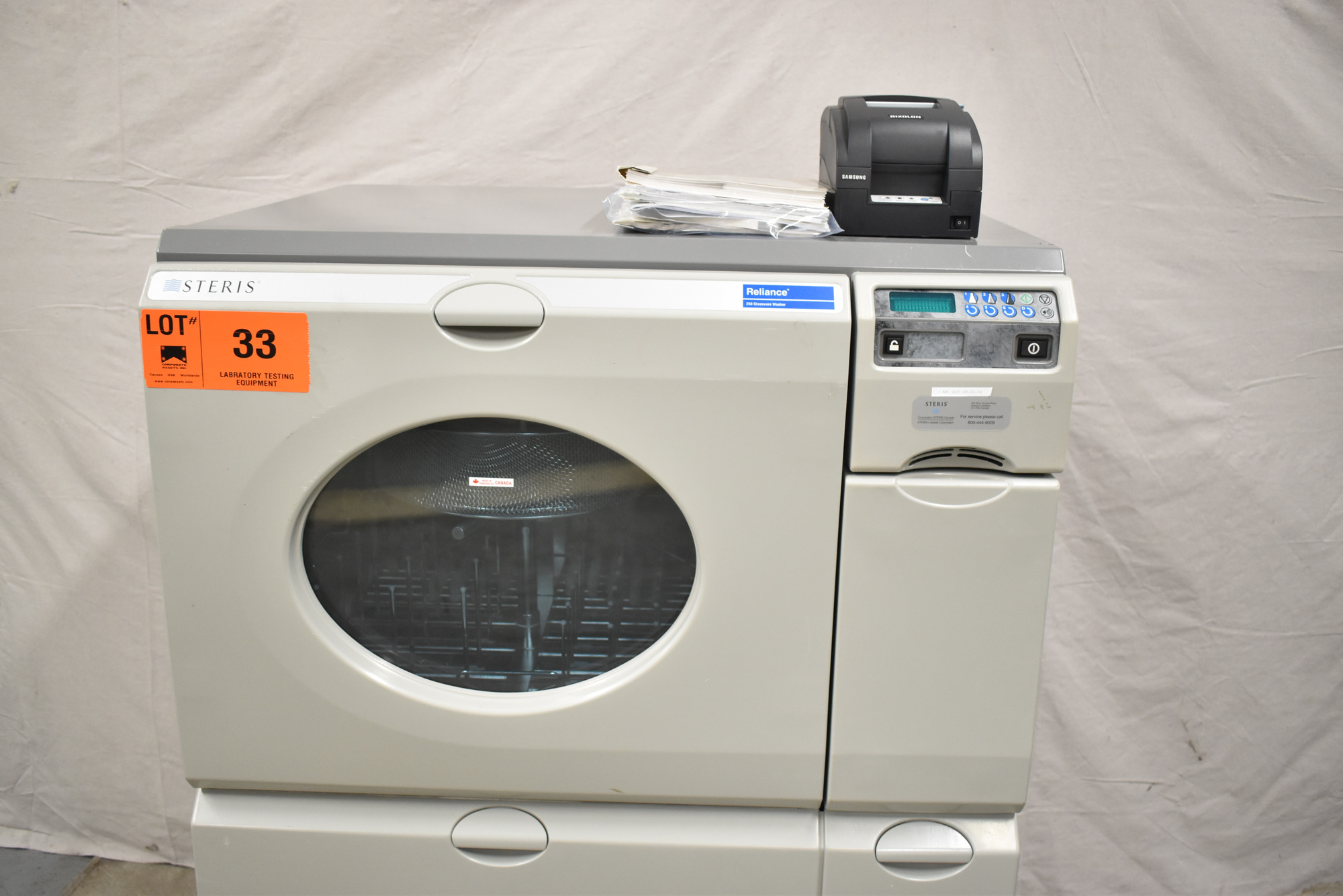 STERIS RELIANCE 250 ULTRA WASH PLUS LABORATORY GLASSWARE WASHER WITH DIGITAL TOUCH SCREEN CONTROL, - Image 3 of 7
