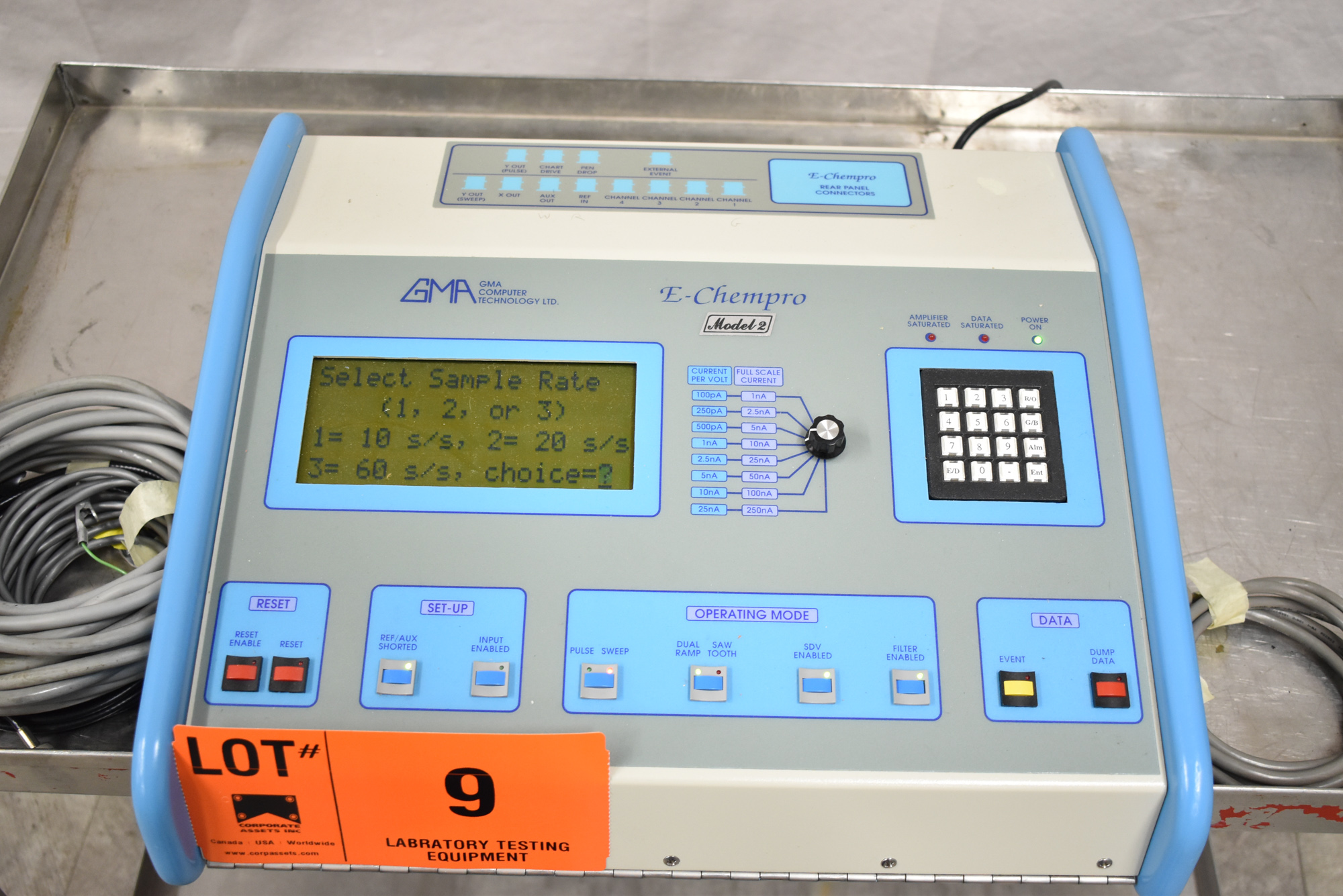 GMA E-CHEMPRO 2/110/60 HIGH SPEED SAMPLER WITH ATEN UC-232A USB TO SERIAL CONVERTER, S/N: 0026 [$