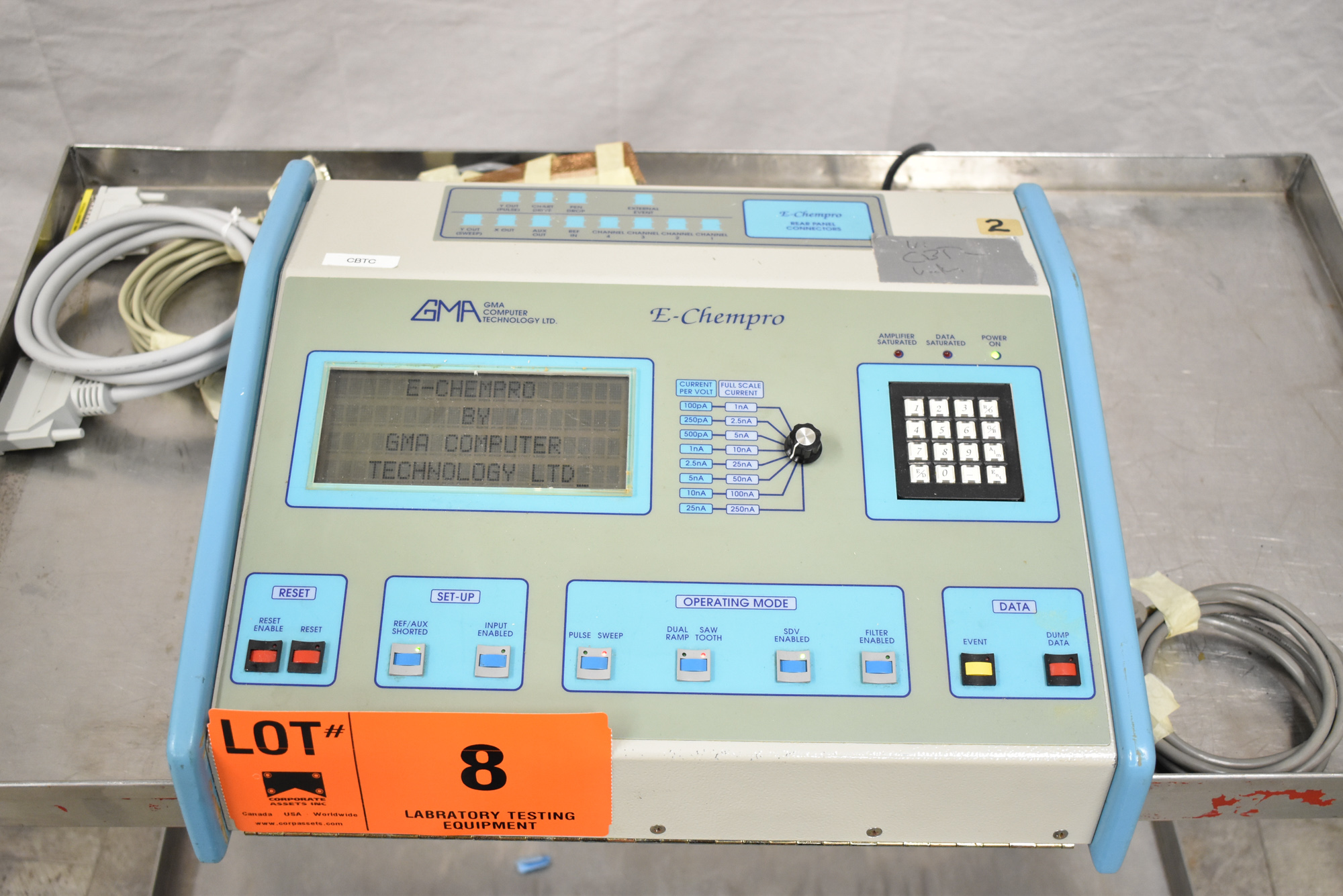 GMA E-CHEMPRO 1/220/50 HIGH SPEED SAMPLER WITH ATEN UC-232A USB TO SERIAL CONVERTER, S/N: 0002 [$