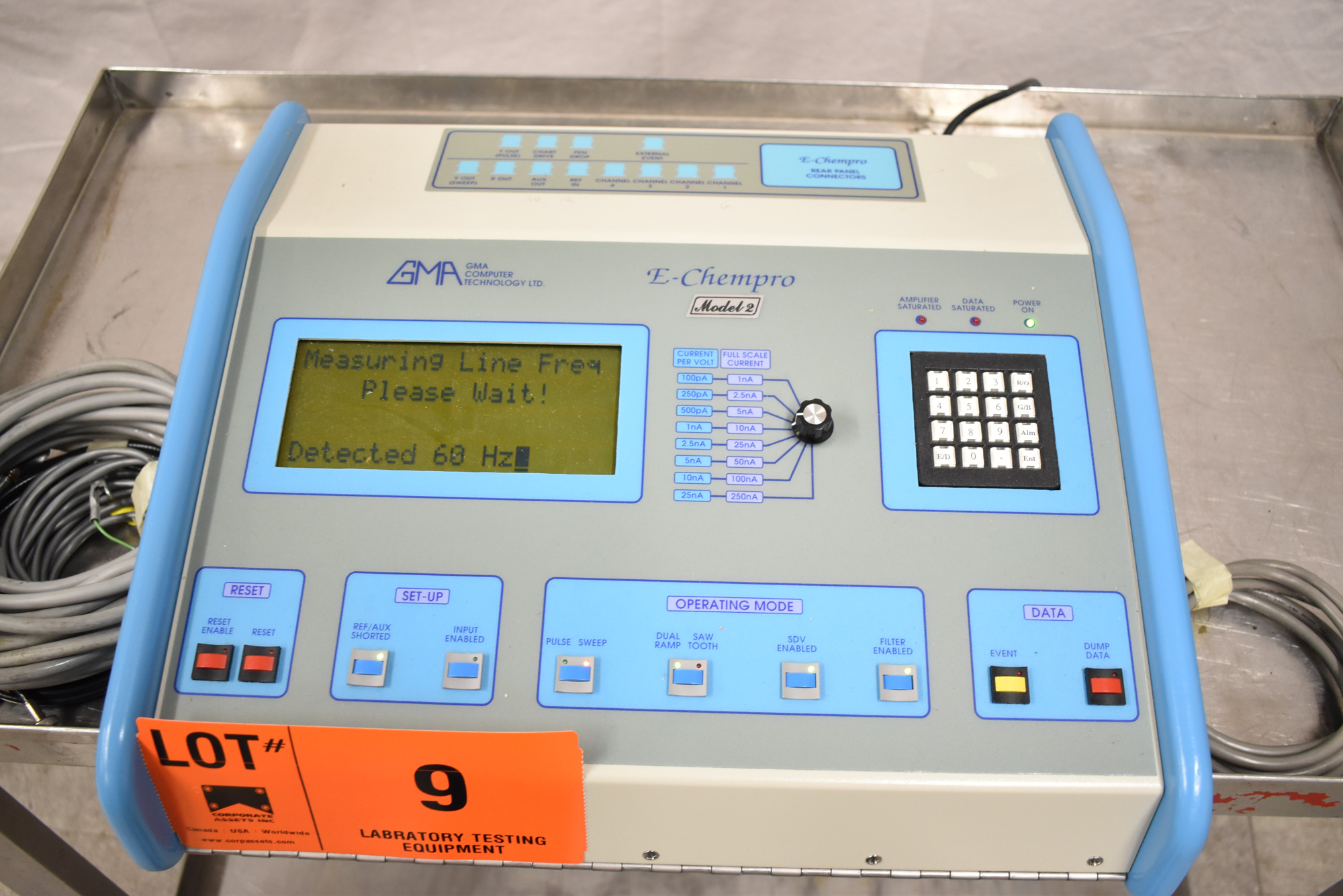 GMA E-CHEMPRO 2/110/60 HIGH SPEED SAMPLER WITH ATEN UC-232A USB TO SERIAL CONVERTER, S/N: 0026 [$ - Image 3 of 5